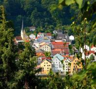 Häuser in der Altstadt von Riedenberg
