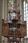 Das von Tilman Riemenschneider von 1500 bis 1505 geschaffene Heiligblut-Retabel in der Stadtkirche St. Jakob.