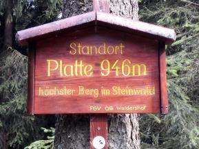 Wir haben die höchste Erhebung im Steinwald erreicht