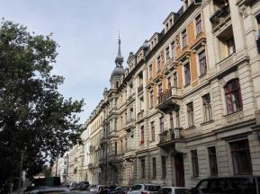 Häuserzeile in der Neustadt