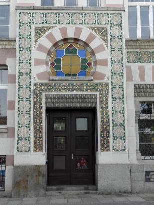 Portal der Zigarettenfabrik