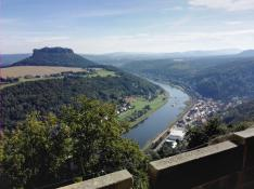 Blick hinunter zum Ort Königstein