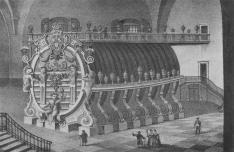 Das Königsteiner Riesenfass: Zeitgenössische Darstellung