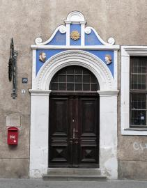 Portal an einem Haus in der Rannischen Straße (Foto: Catatine   http://commons.wikimedia.org   Lizenz: CC BY-SA 3.0 DE)