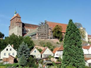 Das Schloss Havelberg wird gerade renoviert