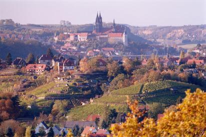 Blick vom Aussichtspunkt Juchhöh im Spaargebirge auf Meißen (Foto: Olaf1541 | http://commons.wikimedia.org | Lizenz: CC BY-SA 3.0 DE)