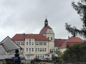 Rathaus und Frauenkirche von der Elbseite gesehen