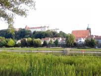 Blick über die Elbe zum Schloss Pirna