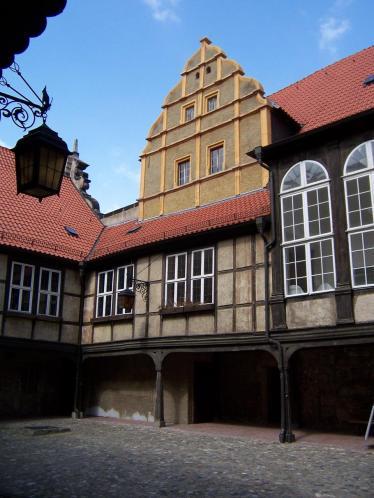 Innenhof des Quedlinburger Schlosses