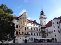 Im Innenhof von Schloss Hartenfels