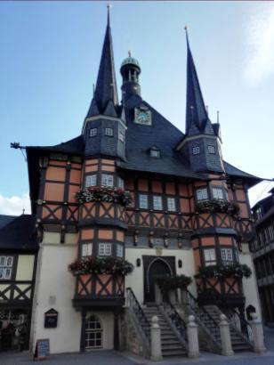 Das historische Rathaus von Wernigerode