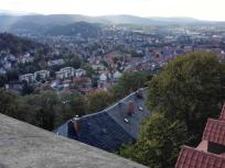 Blick vom Schloss hinunter in die Altstadt von Wernigerode