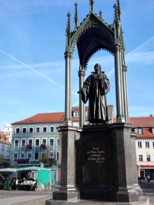 Melanchton-Denkmal vor dem Alten Rathaus