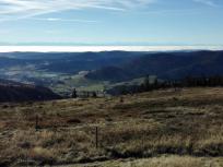 Blick vom Feldberg Richtung Alpen
