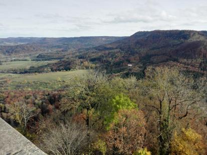 Ausblicke von der Burg in die umliegende Landschaft