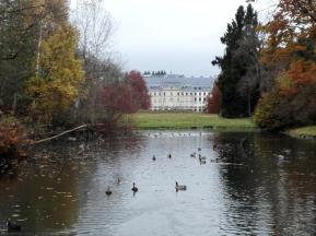 Blickachse im Schlosspark hin zum Schloss Fürstenberg