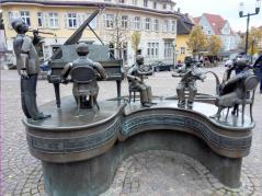 Musikantenbrunnen vor dem Rathaus