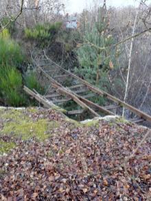 Tote Gleise im ehemaligen Mayener Grubenfeld