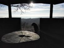 Doxi am Eingang zur Luisenplatzhütte