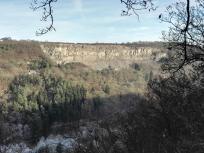 Blick auf den alten Steinbruch bei Sankt Johann