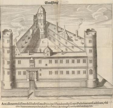 Historischer Stich der Wewelsburg