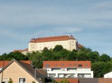Das Schloss von der Innenstadt aus gesehen