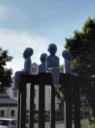 Skulptur am Zugang zur Innenstadt