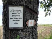 Wir folgen ein Stück weit dem Pilgerpfad rund um das Kloster Schöntal