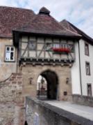 Das eiserne Burgtor ist leider verschlossen