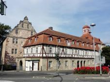 Die Burg Eschwege oberhalb der Werra, heute Sitz der Kreisverwaltung
