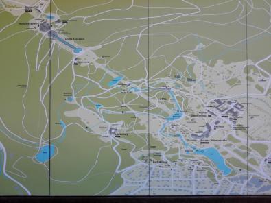 Übersichtskarte über den Park am Besucherzentrum