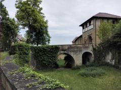 Der ehemalige Burggraben