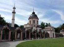 Die Moschee vom Türkischen Gartenaus gesehen