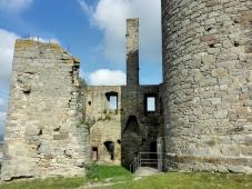 Bergfried und Kamin der Burganlage