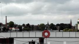 Blick von der Leda hinüber zur Altstadt