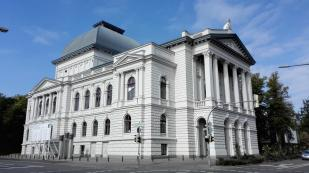 Das Staatstheater Oldenburg im neubarocken Stil von 1893