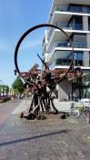 Skulptur am Alten Hafen von Oldenburg