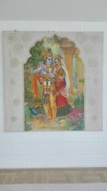 Krishna und Saraswati