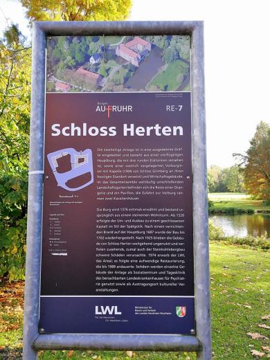 Infotafel am Wasserschloss Herten