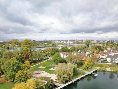 Blick auf die deutsche Seite des Parks