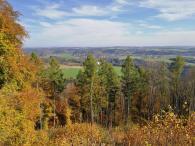 Panoramablick vom Gipfel des Mosebergs