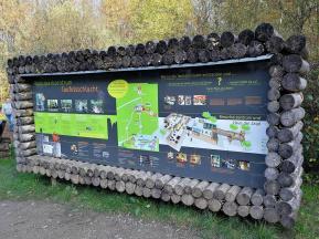 Infotafel am Naturparkzentrum