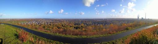 Panoramablick von der Halde Hoheward Richtung Recklinghausen Hochlamark