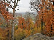 Blick von der Burgruine ins Ruhrtal stromabwärts