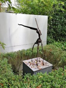 Kunstwerk an einem Wohnhaus in Balkhausen