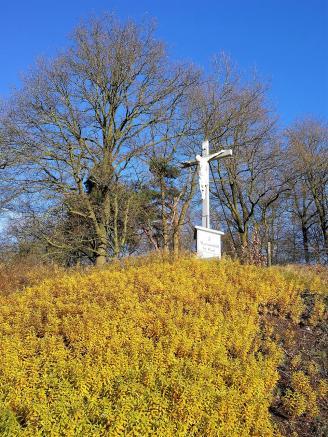 Kreuzfigur am Ausgang von Bad Arcen
