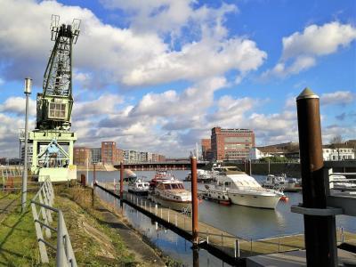 Blick in die Marina am Innenhafen