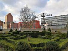 Blick vom Altstadtpark zum Innenhafen