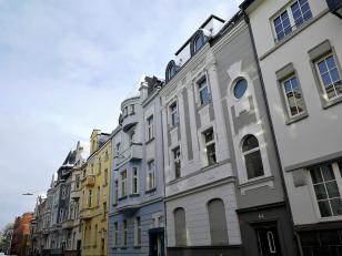 Hübsche Bürgerhäuser in der Neusser Innenstadt