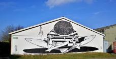 Wandmalerei am Segelflugplatz Limburg